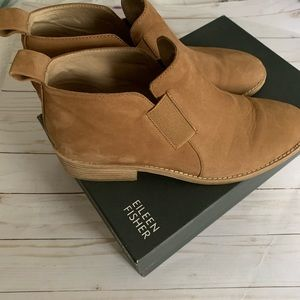 Eileen Fisher suede booties